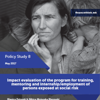 Impact evaluation of the program for training, mentoring and internship/employment of persons exposed at social risk