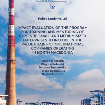 Impact evaluation of the program for training and mentoring of domestic small and medium-sized enterprises to include in the value chains of multinational companies operating in North Macedonia